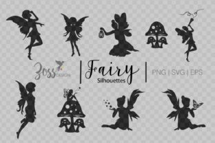 Print on Demand: Fairy Silhouette Svg Images Graphic Crafts By amanda.zoss