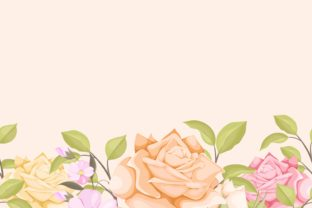 Print on Demand: Floral Seamless Background Template Graphic Backgrounds By lukasdediz