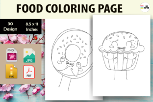 Print on Demand: Food Coloring Page - KDP Graphic Coloring Pages & Books Kids By Sei Ripan