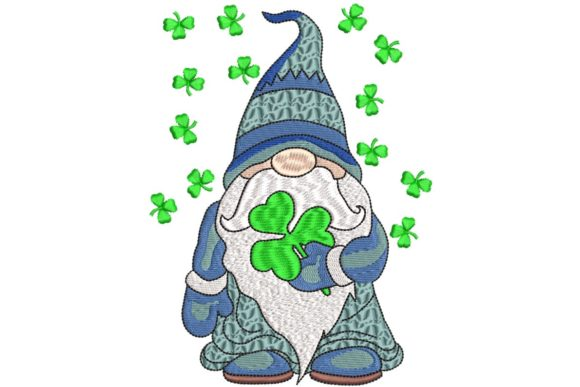 Gnome St Patrick Embroidery
