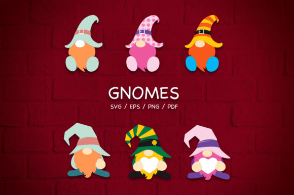 Gnomes Clipart Pack Graphic Illustrations By ceropoly