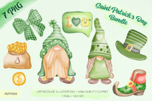 Green Gnoms Clipart Bundle Graphic Illustrations By Apixsala