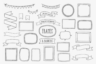 Hand Drawn Frames, Banners & Ribbons Graphic Illustrations By point