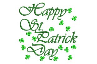 Happy St Patrick Day St Patrick's Day Embroidery Design By BabyNucci Embroidery Designs