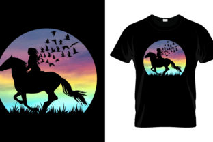 Horse T Shirt Design Graphic Print Templates By Trendy_Designs
