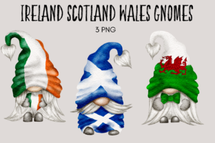 Print on Demand: Ireland Scotland Wales Gnomes Graphic Illustrations By Celebrately Graphics