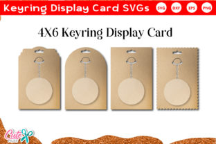 Keyring Display Card SVG File SET Gráfico Crafts Por Cute files