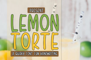 Print on Demand: Lemon Torte Display Font By edwar.sp111