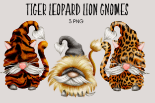 Print on Demand: Lion Tiger Leopard Gnomes Graphic Illustrations By Celebrately Graphics
