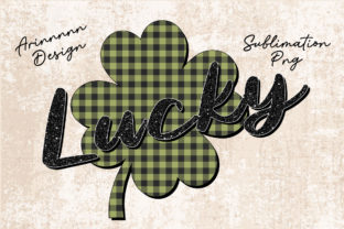 Print on Demand: Lucky Clover St.Patricks Day Sublimation Graphic Print Templates By Arinnnnn Design