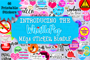 Print on Demand: Mega Printable Stickers Bundle Sticker Graphic Crafts By Whistlepig Designs