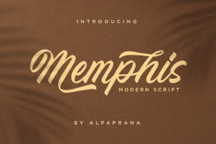 Print on Demand: Memphis Script & Handwritten Font By alpapranastudio