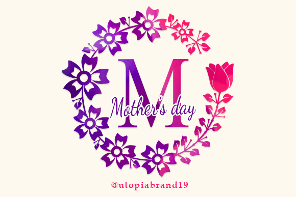 Print on Demand: Mothers Day Decorativa Fuente Por utopiabrand19