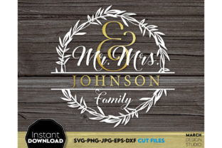 Mr & Mrs Just Married Wedding Graphic Crafts By March Design Studio