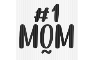 Print on Demand: Number 1 Mom Quote Graphic Graphic Crafts By SVGPlaceDesign
