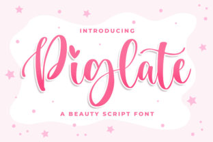 Print on Demand: Piglate Script & Handwritten Font By Blankids Studio