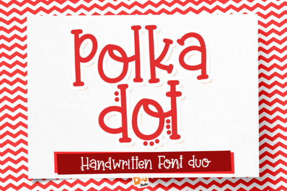 Print on Demand: Polka Dot Display Font By dmletter31