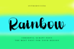 Print on Demand: Rainbow Script & Handwritten Font By FreshTypeINK
