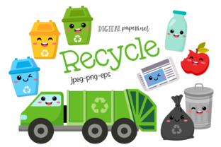 Print on Demand: Recycle Clipart Set Graphic Illustrations By DigitalPapers