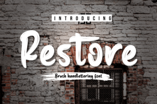 Print on Demand: Restore Script & Handwritten Font By Productype