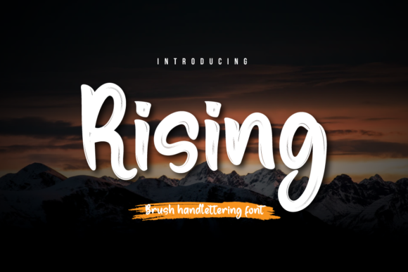 Print on Demand: Rising Script & Handwritten Font By Productype