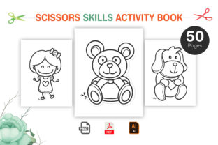 Scissor Skills Activity Book for Kids Graphic KDP Interiors By Design invention