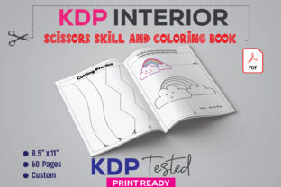 Scissors Skill and Coloring Book Graphic KDP Interiors By GraphicTech360