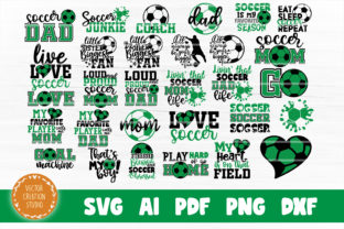 Print on Demand: Soccer SVG Bundle Cut Files Graphic Crafts By VectorCreationStudio
