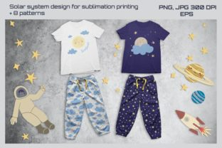 Solar System Patterns and Design Graphic Patterns By annetc designs