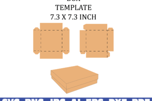 Print on Demand: Square Box Template Graphic Print Templates By Sofiamastery