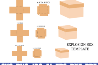 Print on Demand: Square Box Template Graphic Illustrations By Sofiamastery