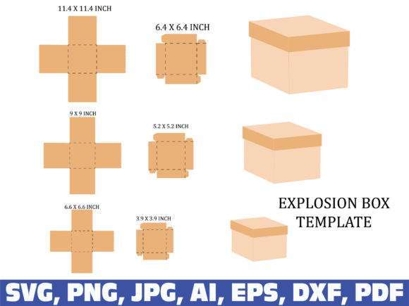 Square Box Template Graphic Illustrations By dodo2000mn1993