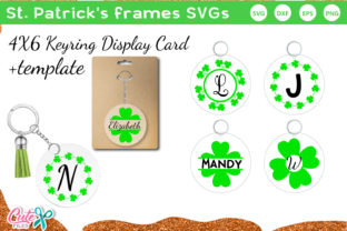 St Patricks Frames Keychain and Keyring Graphic Crafts By Cute files