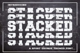 Print on Demand: Stacked Display Font By KtwoP