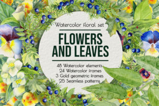 Summer Flowers, Watercolor Clip Art Graphic Illustrations By AlenserArt