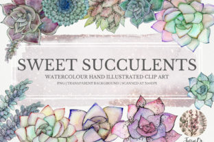 Print on Demand: Sweet Succulents Clip Art Set Graphic Illustrations By Jessaox 1
