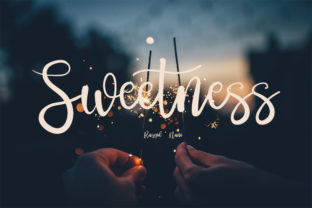 Print on Demand: Sweetness Script & Handwritten Font By muhawk47