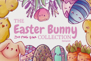 Print on Demand: The Easter Bunny Clip Art Set Graphic Illustrations By Jessaox