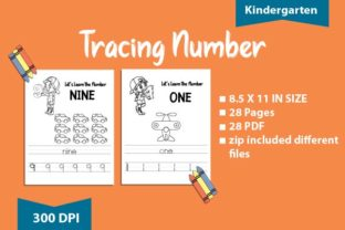 Print on Demand: Tracing Number & Words : Kindergarten Graphic Teaching Materials By BoxxNeed