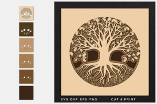 Tree of Life Svg, Cut File, Multilayer Graphic 3D SVG By 2dooart