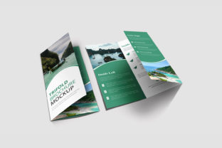 Trifold Brochure Mockup Graphic Product Mockups By VectorRiver