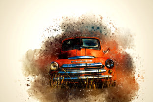Print on Demand: Vintage Car Printables Pack 07 Graphic Illustrations By The leaves river