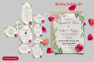 Wedding Invitation Kit Graphic Print Templates By 3djagan