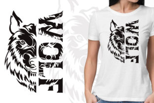 Wolf T Shirt Logo Design Graphic Illustrations By nawabfarhana360