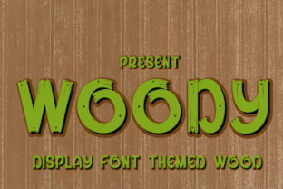Print on Demand: Woody Display Font By edwar.sp111