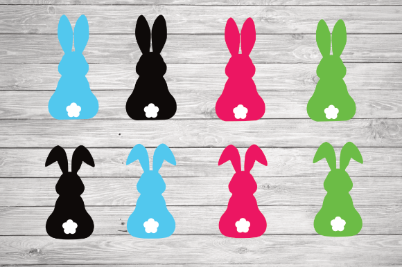 Print on Demand: Bunny Clipart, Rabbit Svg Graphic Illustrations By rayan