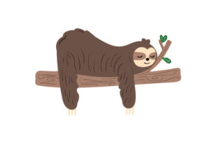 Lazy Sloth Animals Craft Cut File By Creative Fabrica Crafts