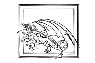 Dragon Coloring Page Designs & Drawings Craft Cut File By Creative Fabrica Crafts