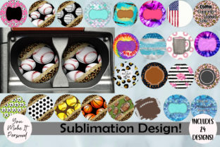 Print on Demand: 24 Sublimation Coaster/Keychain Designs! Graphic Print Templates By You Make It Personal
