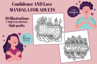 30 Confidence and Love Mandalas for KDP Graphic Coloring Pages & Books Adults By KDP-WARRIOR